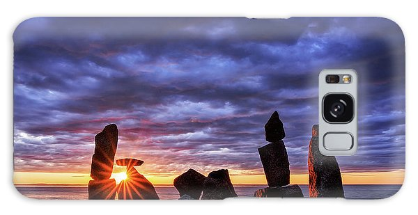 Galaxy Case featuring the photograph Standing Stone 1 Halibut Pt.  by Michael Hubley