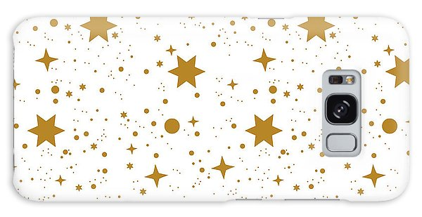 Wrap Galaxy Case - Star, Pattern, White, Background, Gold by Ann.and.pen