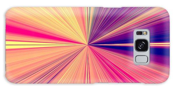Starburst Light Beams In Abstract Design - Plb457 Galaxy Case