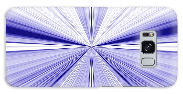 Starburst Light Beams In Blue And White Abstract Design - Plb455 Galaxy Case