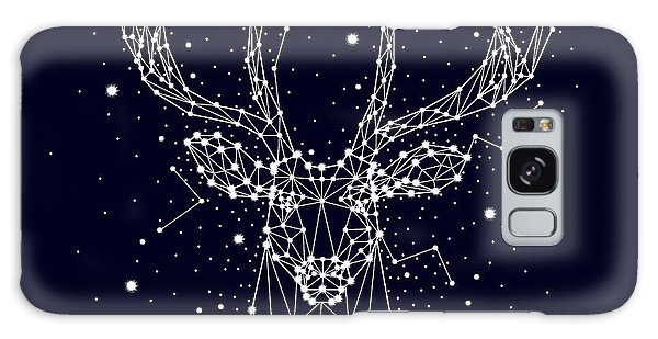 Outer Space Galaxy Case - Starry Sky, Constellation, Deer by Chikovnaya