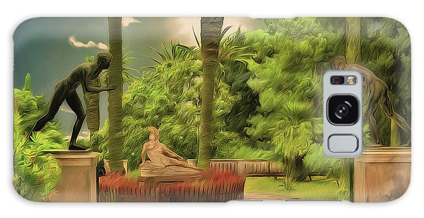 Galaxy Case featuring the photograph Statues Gardens,achilleion Palace Corfu by Leigh Kemp
