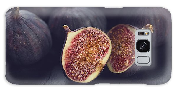 Tasty Galaxy Case - Still Life Fruits Ripe Figs, Close-up by Nickola che