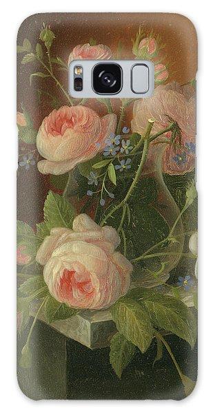 Still Life With Roses, Circa 1860 Galaxy Case