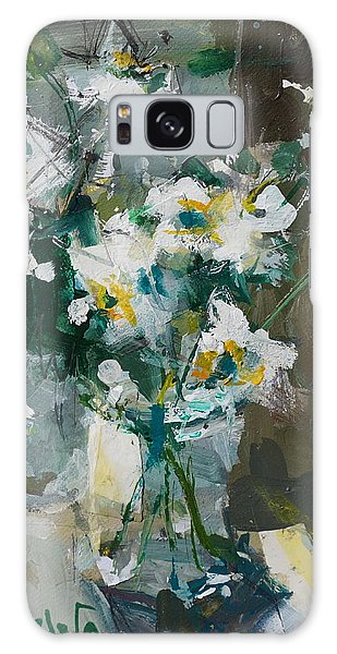 Still Life With White Anemones Galaxy Case