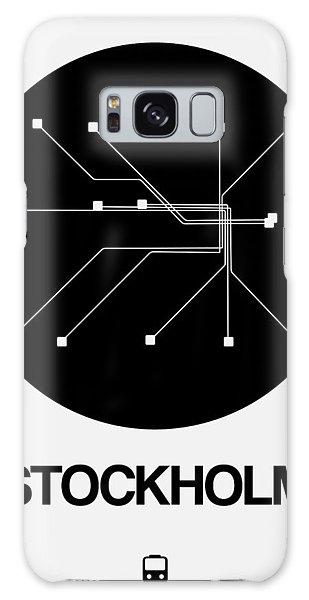 Sweden Galaxy Case - Stockholm Black Subway Map by Naxart Studio