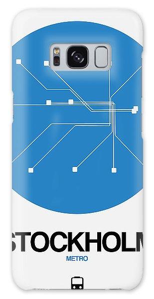 Sweden Galaxy Case - Stockholm Blue Subway Map by Naxart Studio