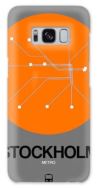 Sweden Galaxy Case - Stockholm Orange Subway Map by Naxart Studio