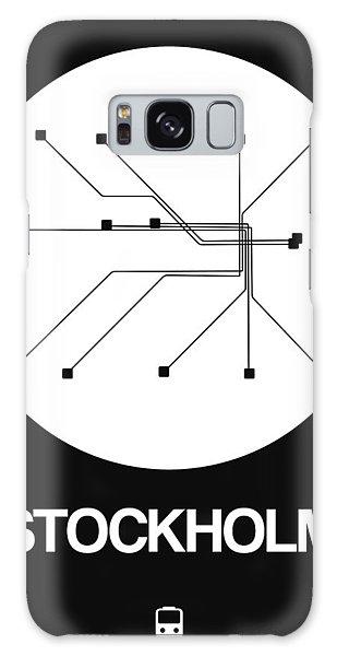 Sweden Galaxy Case - Stockholm White Subway Map by Naxart Studio