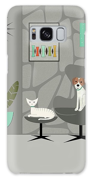 Stone Wall With Dog And Cat Galaxy Case
