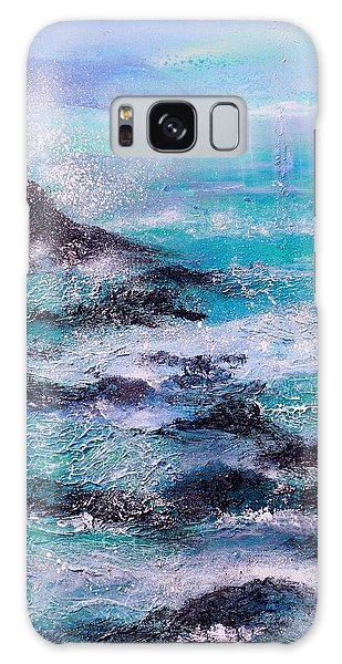 Stormy Sea With Breaking Waves  Galaxy Case