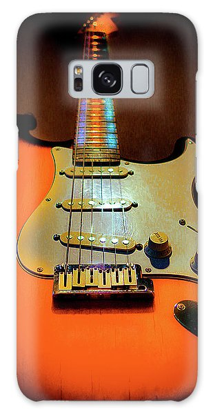 Galaxy Case featuring the digital art Stratocaster Triburst Glow Neck Series by Guitar Wacky