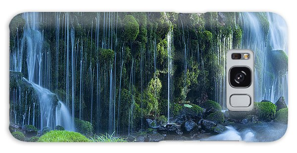 Scenery Galaxy Case - Stream In Green Forest by Mp p