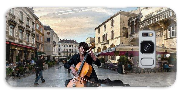 Street Music. Cello. Galaxy Case