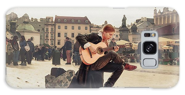 Street Music. Guitar. Galaxy Case