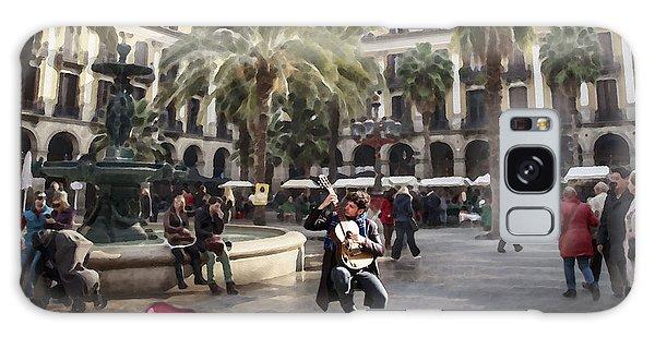 Street Music. Guitar. Barcelona, Plaza Real. Galaxy Case