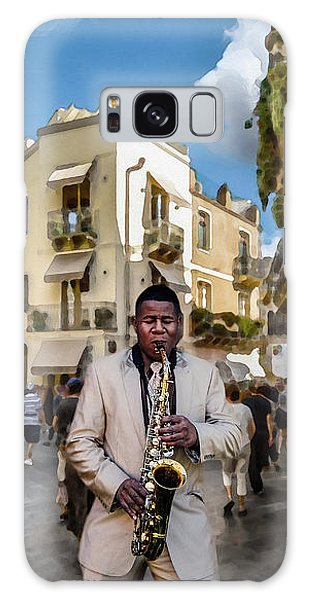 Street Music. Saxophone. Galaxy Case