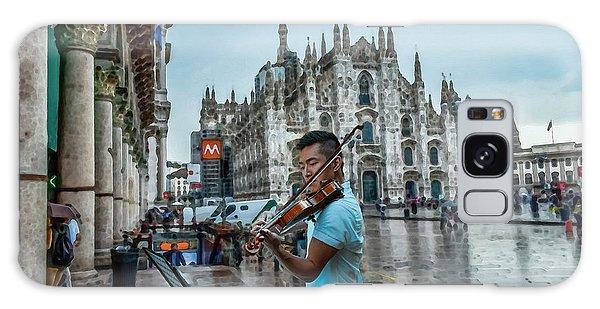 Street Music. Violin. Galaxy Case