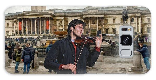 Street Music. Violin. Trafalgar Square. Galaxy Case