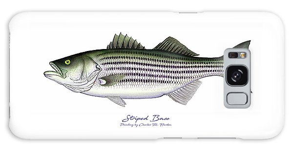 Tides Galaxy Case - Striped Bass by Charles Harden