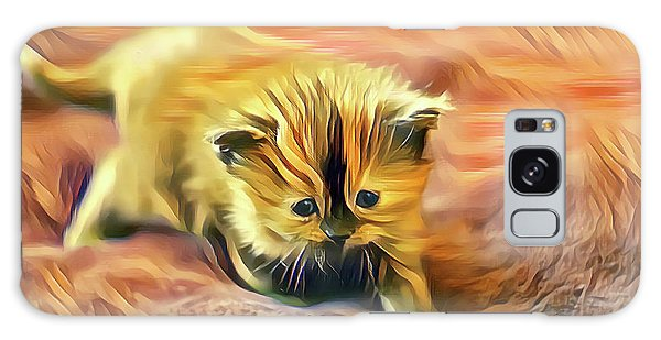 Striped Forehead Kitten Galaxy Case