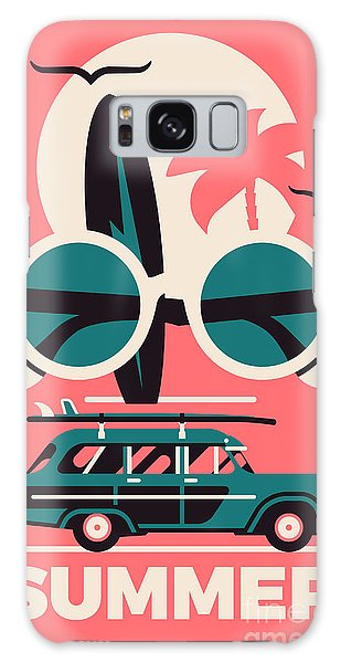 Seagulls Galaxy Case - Stylish Vector Concept Design On by Mascha Tace