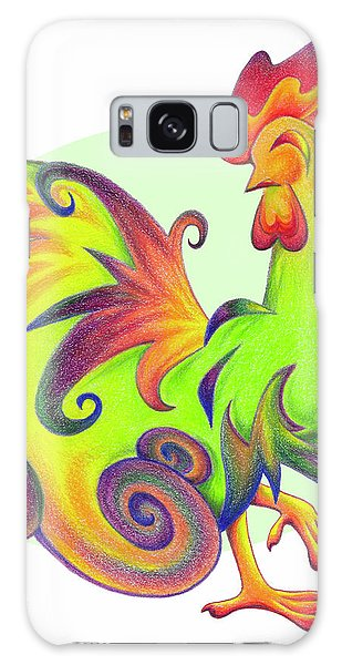 Stylized Rooster I Galaxy Case