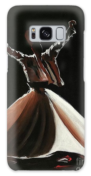 Galaxy Case featuring the painting Sufi-s001 by Nizar MacNojia