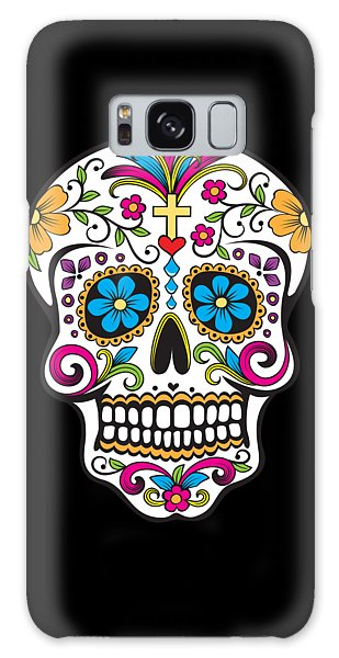 Sugar Skull Day Of The Dead Galaxy Case