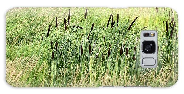 Summer Cattails In Field Of Grass - Galaxy Case
