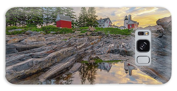 Summer Morning At Pemaquid Point Lighthouse Galaxy Case