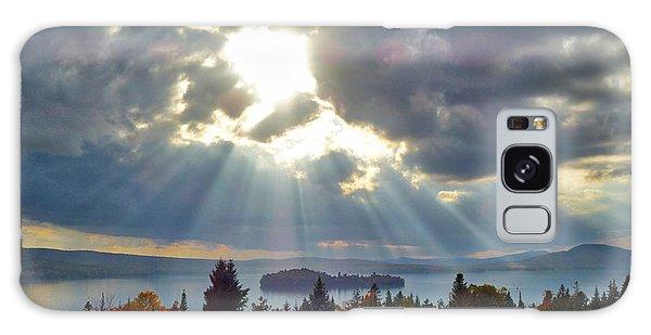 Sun Rays Over Rangeley Lake Galaxy Case