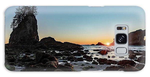Sunburst At The Beach Galaxy Case