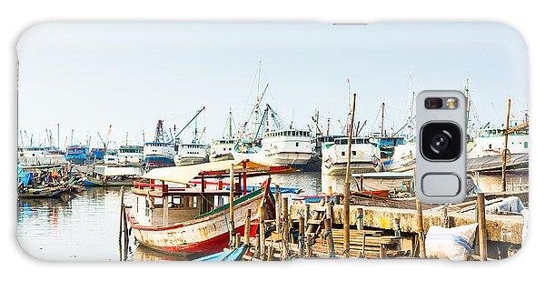 Shipping Galaxy Case - Sunda Kelapa Old Harbour  With Fishing by Kzenon