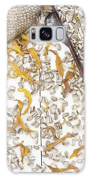 Helianthus Annuus Galaxy Case - Sunflower Titan Seeds by Tim Gainey