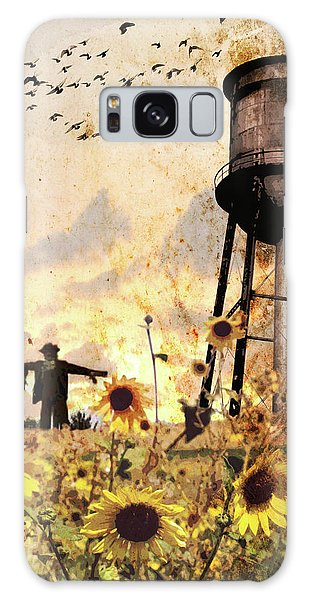 Sunflowers At Dusk Galaxy Case