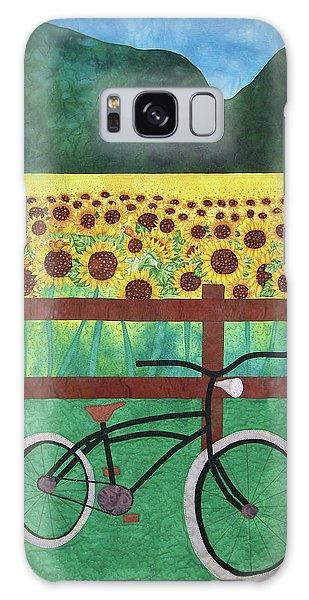 Sunflowers At Whitehall Farm Galaxy Case