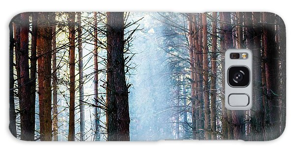 Bright Colors Galaxy Case - Sunlight In The Grey Forest, Nature by Tspider