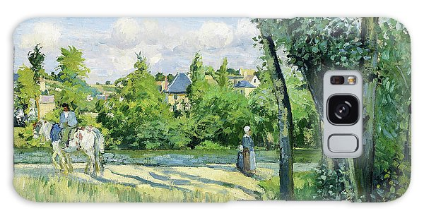 Country Living Galaxy Case - Sunlight On The Road, Pontoise - Digital Remastered Edition by Camille Pissarro