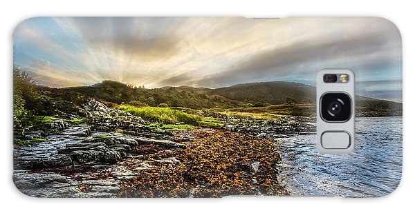 Fairy Pools Galaxy Case - Sunrays At Dawn Along The Coast by Debra and Dave Vanderlaan