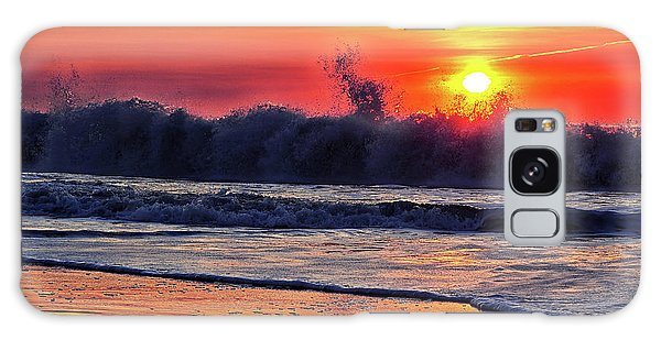Galaxy Case featuring the photograph Sunrise At 142nd Street Beach Ocean City by Bill Swartwout Fine Art Photography