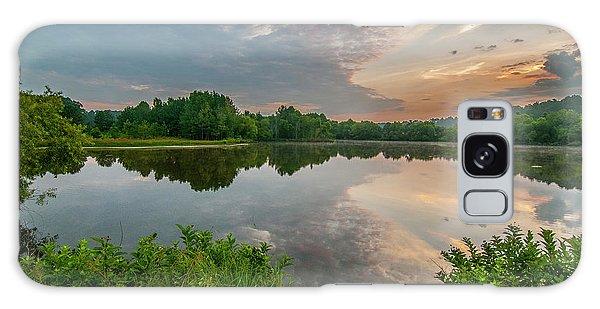 Sunrise At Ross Pond Galaxy Case