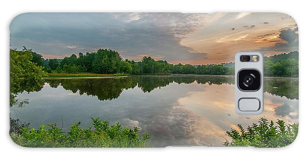 Sunrise At Ross Pond Galaxy Case
