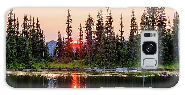 Sunrise From The Reflection Lake Galaxy Case