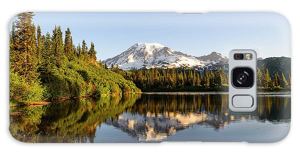 Sunrise In Mt Rainier  Galaxy Case