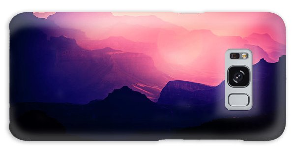 Sunrise In The Canyon Galaxy Case