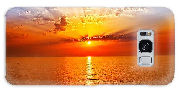 Bright Colors Galaxy Case - Sunrise In The Sea by Merydolla