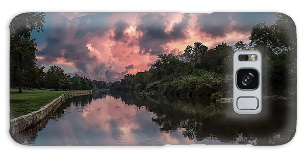 Sunrise On The River Galaxy Case