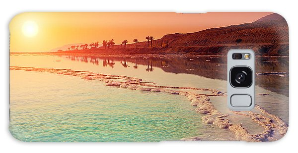Seashore Galaxy Case - Sunrise Over Dead Sea by Vvvita
