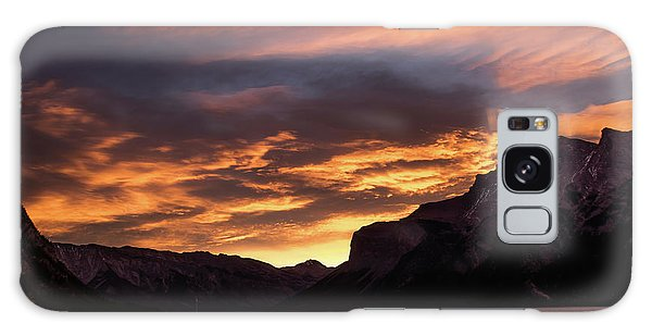 Sunrise Over Lake Minnewanka, Banff National Park, Alberta, Cana Galaxy Case
